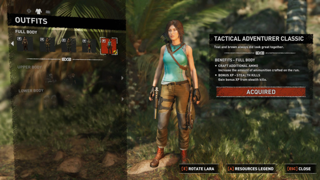 Shadow of the Tomb Raider -Outfits N For Nerds